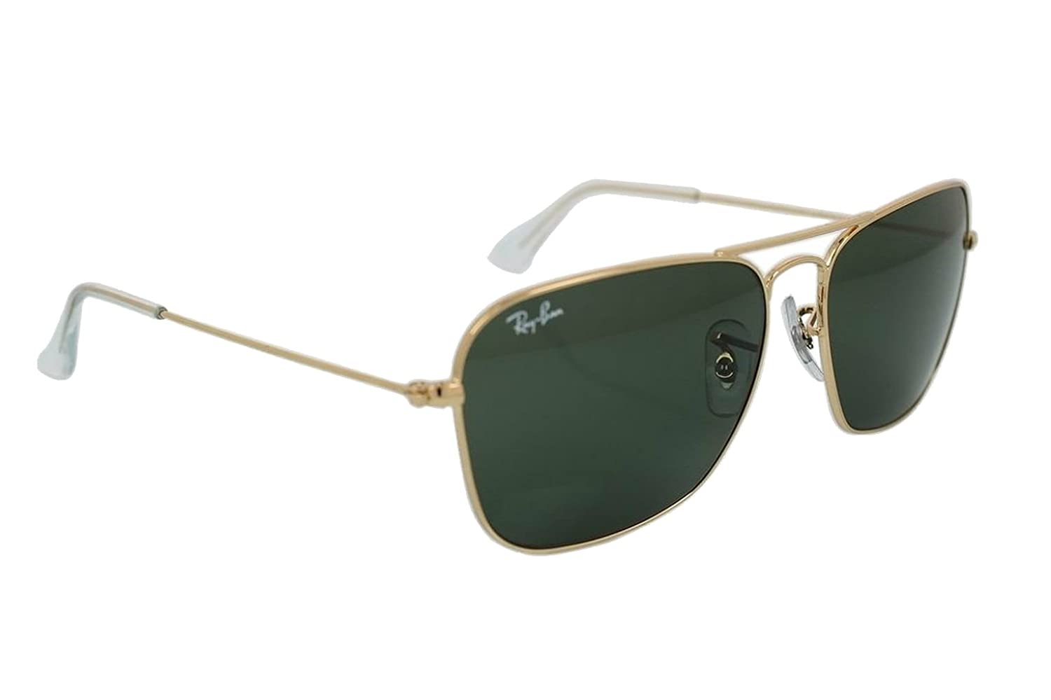 0637a71423 Ray-Ban Caravan Gold Sunglasses RB 3136 001 55mm + SD Glasses + Cleaning  Kit  Amazon.co.uk  Clothing