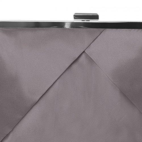 CASPAR Fashion - Cartera de mano para mujer - pardo