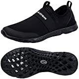 ALEADER Women's Quick-Dry Aqua Water Shoes All Black 9 D(M) US