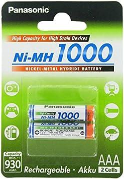 Panasonic Aaa Batterie Ni Mh 1 2 V 1000 Mah 2 Stück Bürobedarf Schreibwaren