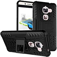LeEco Le S3 Case, LeEco Le 2 Case, Skmy Shockproof Impact Protection Tough Rugged Dual Layer Protective Case Cover with Kickstand for LeTV LeEco Le 2 X620 / LeEco Le 2 Pro (Black)
