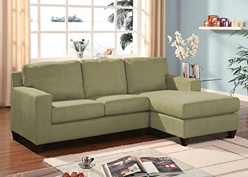 (Acme Furniture Vogue Microfiber Sectional in Sage)