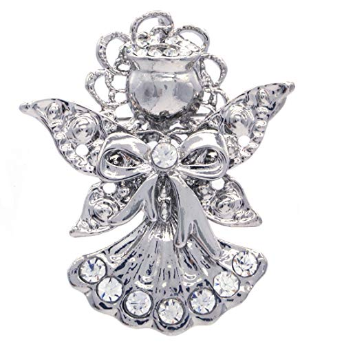 (SoulBreeze Winter Jewelry Ornaments Angel Brooch Angel Wings Pin for Women Mom (STYL 3))