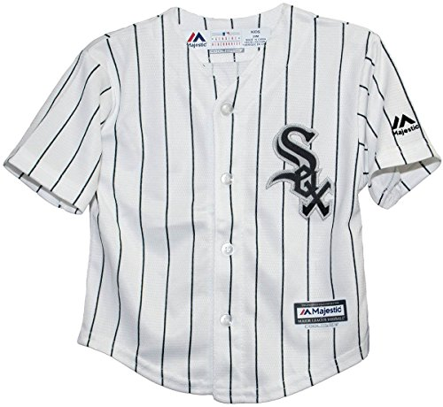 Majestic Kid's Chicago White Sox White/Black Baseball Jersey (Medium - White Large Jersey Unisex