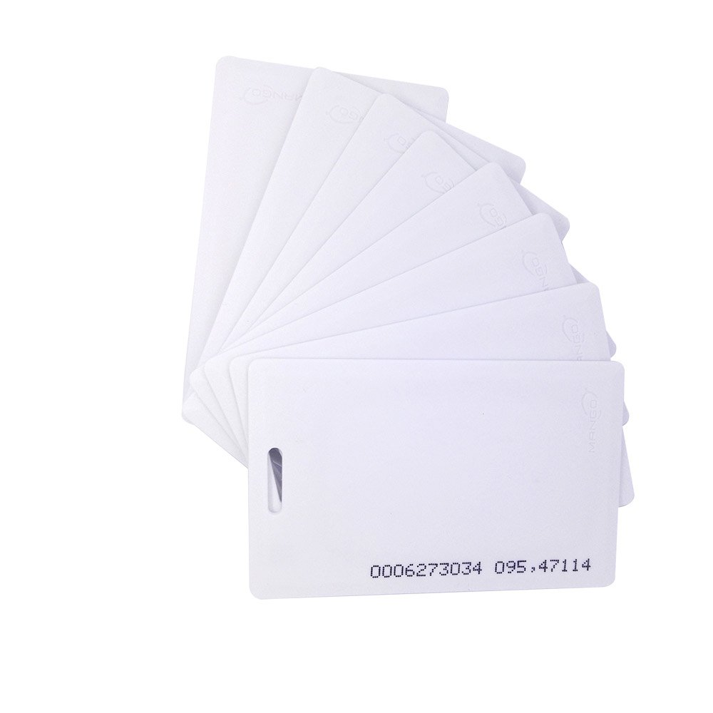 25pcs RFID 125khz Proximity clamshell ID card TK4100(thick card) compatible with EM4100 support ID Smart card entry access control system,key card,membership card(Thickness 1.8mm)