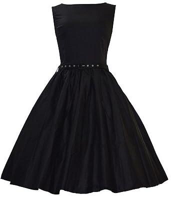 aimerfeel Frauen klassisch schwarz und rosa midi retro 1950er ...