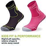 Rollerblade Performance Kids Socks, Inline Skating, Multi Sport, Black and Green, Small