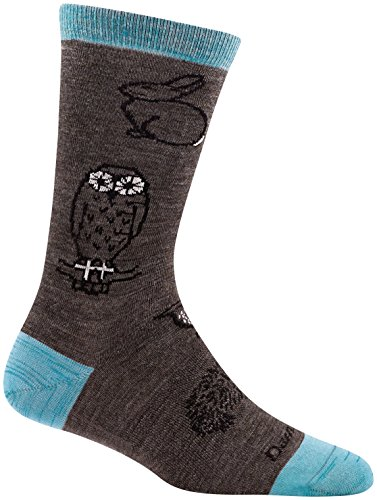 (Darn Tough Woodland Creatures Crew Light Sock - Women's Taupe Medium)