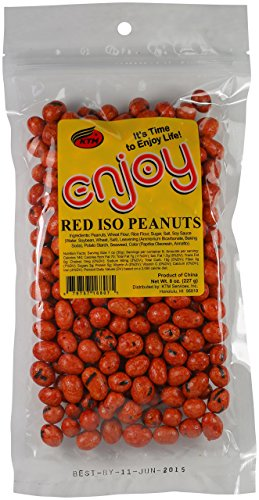 Enjoy Red Iso Peanuts, 8 Ounce ()