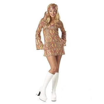 Disfraz Disco brillante sexy mujer - L: Amazon.es: Juguetes y juegos