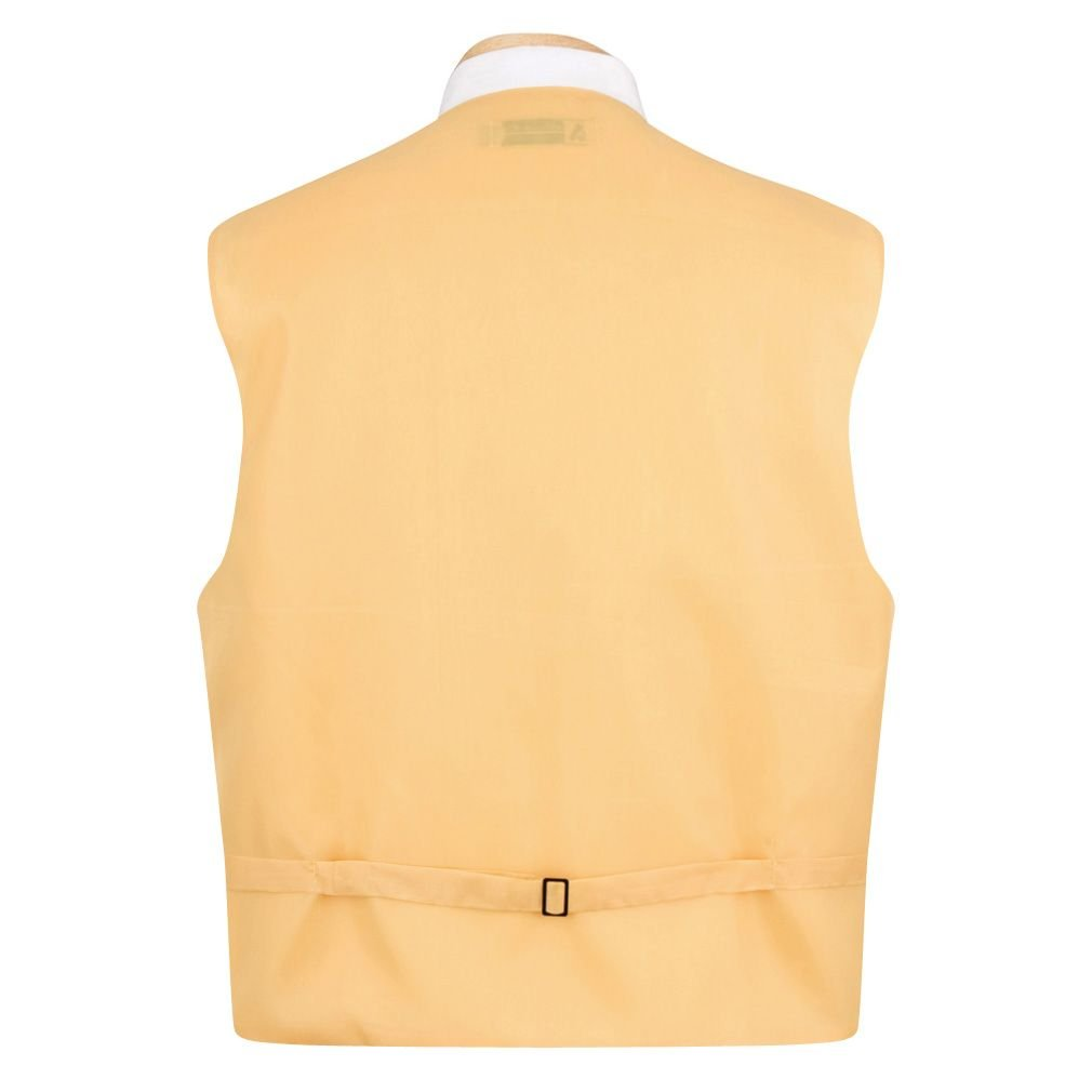 Orange Formal Vest Necktie and Pocket Square Set
