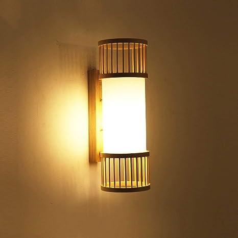 Amazon.com: WHKHY - Lámpara de pared de bambú para ...