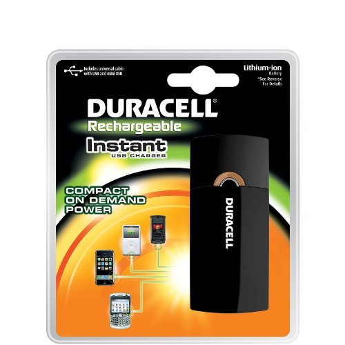 Duracell Instant Charger, Universal Cable, Usb & Mini Usb