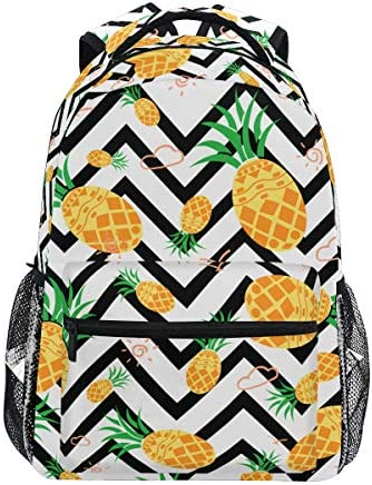 ZOEO Pineapple Backpacks Chevron Bookbags