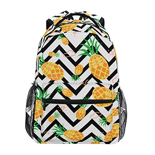 9e842223a546 ZOEO Girls Pineapple Backpacks Chevron Black and White 3th 4th 5th Grade  School Bookbags Travel Laptop Daypack Bag Purse for Kids Teens