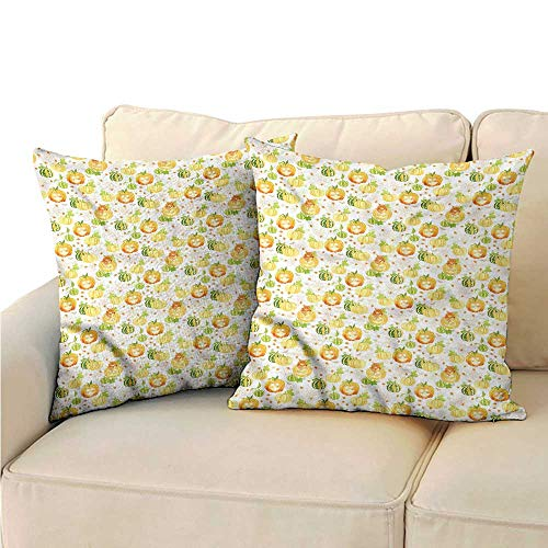 RuppertTextile Pumpkin Fashion Pillowcase Ornate Spider Web Halloween Mildew Proof W14 x -