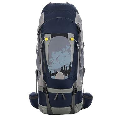 Mochila de alpinismo para exteriores de 80 litros, mochila deportiva de nylon de gran capacidad para bolsa de hombro 30-22-80cm: Amazon.es: Ropa y ...