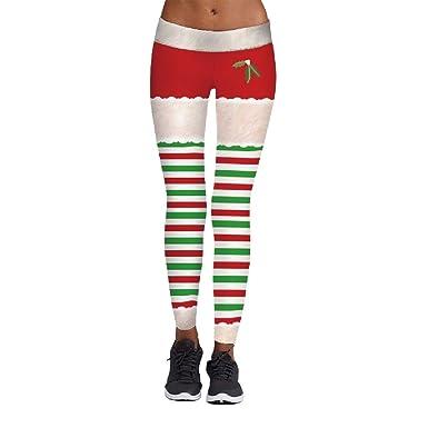 Plus Size Christmas Leggings.Howme Women Plus Size Regular Stripes All Match Christmas