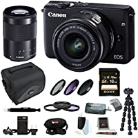 Canon EOS M10 Mirrorless Camera w/ EF-M 15-45mm f/3.5-6.3 IS STM & EF-M 55-200mm f/4.5-6.3 IS STM Lens 16GB SD Card Bundle Advantages Review Image