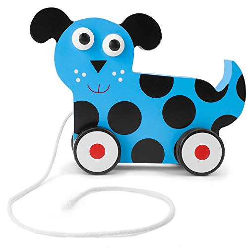 (Imagination Generation Wooden Wonders Push-n-Pull Dalmatian Puppy Toy)