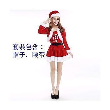 SDLRYF Disfraz De Papá Noel Navidad Santa Claus Traje Traje ...
