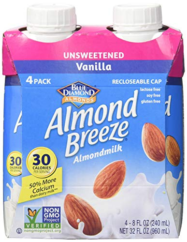ALMBRZ Almond Breeze; Unsweetened Vanilla , Pack of 6