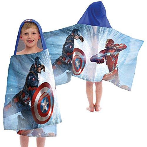 Jay Franco Marvel Captain America Civil War Sides of War Cotton Hooded Towel