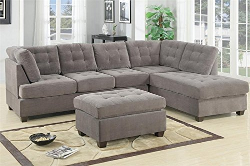 2-Pcs Sectional Sofa and ottoman By Poundex