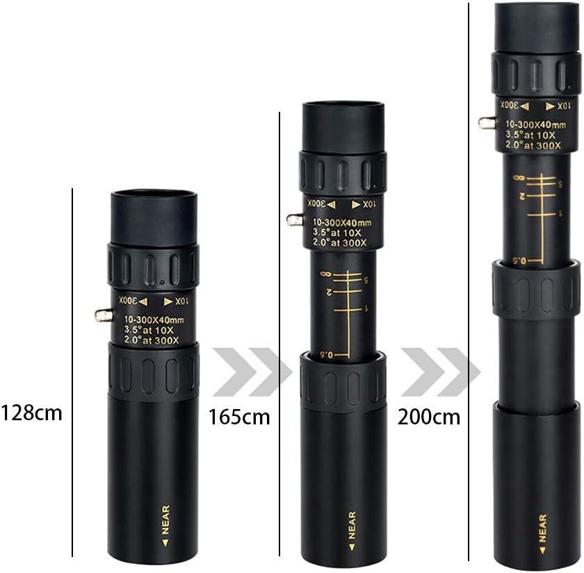 Gpure Telescopio Terrestre 4K Aumento de 10-300x Profesionales 0.5-3000m Visible FMC BAK4 Catalejo con Plegada Tr/ípode Adaptador de Smartphone Ni/ños Adultos para Exterior C/ámping