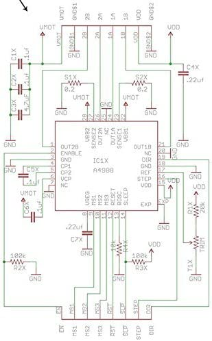 Hiletgo 5pcs A4988 pilote de moteur pas /à pas et Dissipateur thermique pour Pololu RepRap Prusa Mendel Rampes