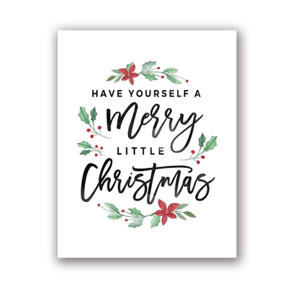 Decoraciones navideñas Feliz Navidad Impresiones de carteles ...