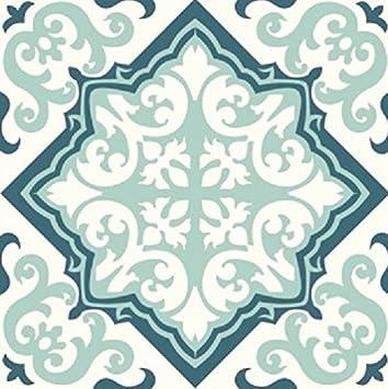 Amazon.com: Tiva Design Art Removable Square Ethnic Tile Decals ...
