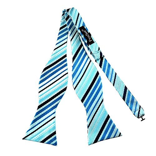 4f5724b0c80a Pensee Mens Self Bow Tie Sky Blue and Black Stripe Jacquard Woven Silk Bow  Ties - Buy Online in Oman. | Apparel Products in Oman - See Prices, ...