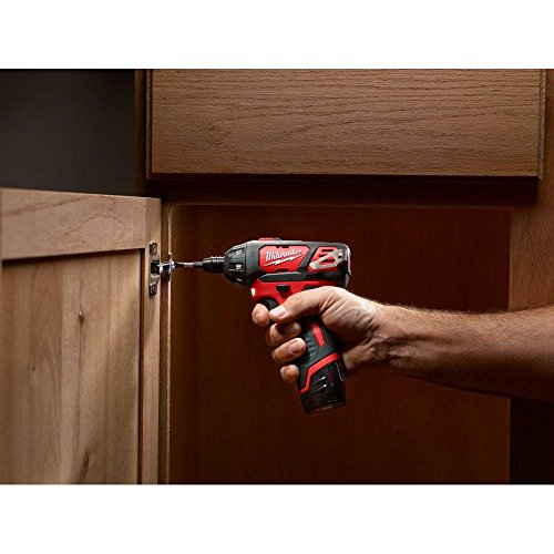 Milwaukee M12 12-Volt Lithium-Ion 1/4 in. Hex Cordless Screwdriver Kit | Hardware Power Tools for Your Carpentry Workshop, Machine Shop, Construction or Jobsite Needs by Milwaukee (Image #4)