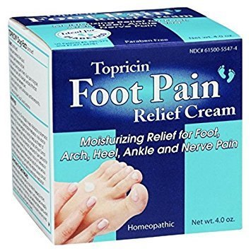 Topricin Foot Pain Relief Cream, 4 oz ( Pack of 12)