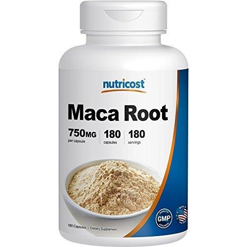 Nutricost Racine de Maca 750mg, 180 Capsules, 180 Portions