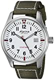 Alpina Men's Startimer Stainless Steel Swiss-Quartz Watch with Nylon Strap, Green, 21 (Model: AL-240S4S6)