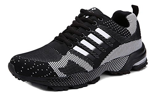 Running Sneaker Men's Fashion Shoes Women's Tennis Outdoor Shoes Black Walking Jogging Athletic JiYe v1wOw