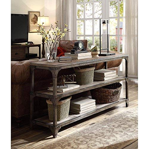"Acme Furniture 72685 Gorden 60"" Server, Weathered Oak Antique Silver"