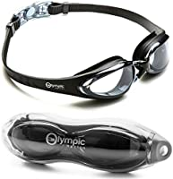 Olympic Nation Crystal Clear Comfortable Swimming Goggles with Anti-Fog Lenses, Swim Goggle for Adult Children Men Women And Kids - Swim Like A Pro