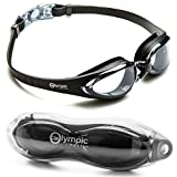 Olympic Nation XMS631 Pro Swim Goggles, Black with Clear Lenses