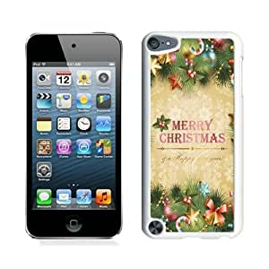 Customized Merry Christmas White iPod Touch 5 Case 7