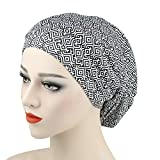 Alnorm Wide Band Sleep Night Cap Baggy Beanie Slouch Skull Cap Cancer Hat