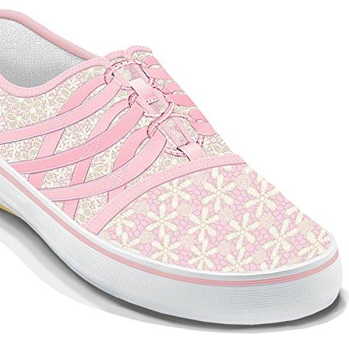 Sensibilisation Au Cancer Du Sein Lacé Avec Espoir Chaussures Pour Femmes Par Le Bradford Échange Multicolore