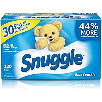 Snuggle Fabric Softener Dryer Sheets, Blue Sparkle, 230 Count