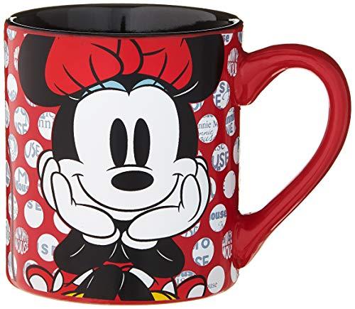 Silver Buffalo Minnie Mouse Rock the Dots Ceramic Mug, 14 oz,