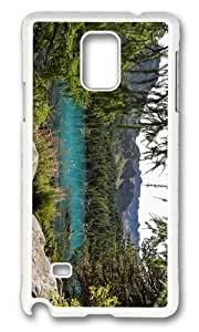 Adorable lake forest mountains Hard Case Protective Shell Cell Phone Samsung Galxy S4 I9500/I9502 - PC White