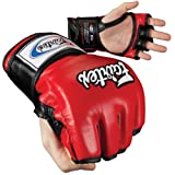 Fairtex Ultimate Combat Open Thumb MMA Gloves, Red/Black, X-Large