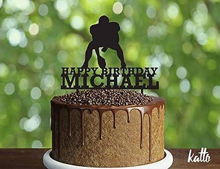 Decoración para tarta con nombre y texto en inglés