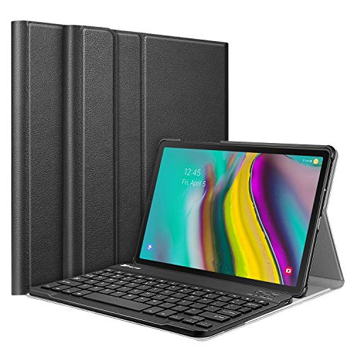 Fintie Keyboard Case for Samsung Galaxy Tab S5e 10.5 2019 Model SM-T720 T725, Slim Shell Lightweight Stand Cover with Detachable Wireless Bluetooth Keyboard, Black